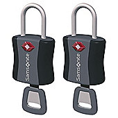 Samsonite TSA Air Key Locks, Black Set of 2