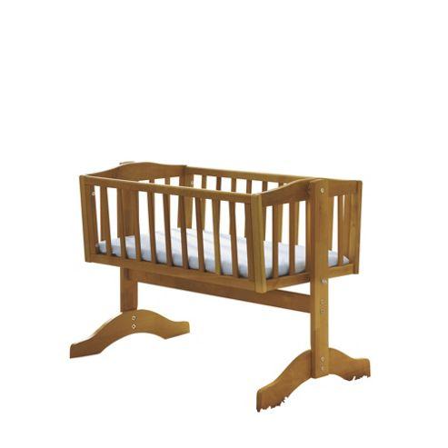 Saplings Bethany Crib with Mattress, Natural