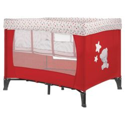 Tiny Tatty Teddy Travel Cot, Red & White Exclusive to Tesco