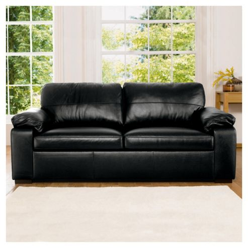 Ashmore Leather Sofa Bed, Black