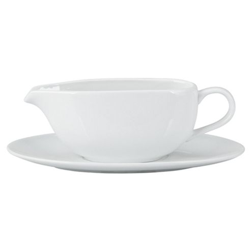 Tesco Porcelain Gravy Boat, White
