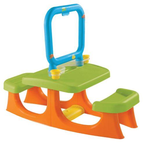 Keter Artisto Double Sided Easel Desk, Green/Orange