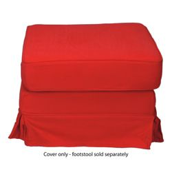 Louisa Loose Cover For Footstool, Red