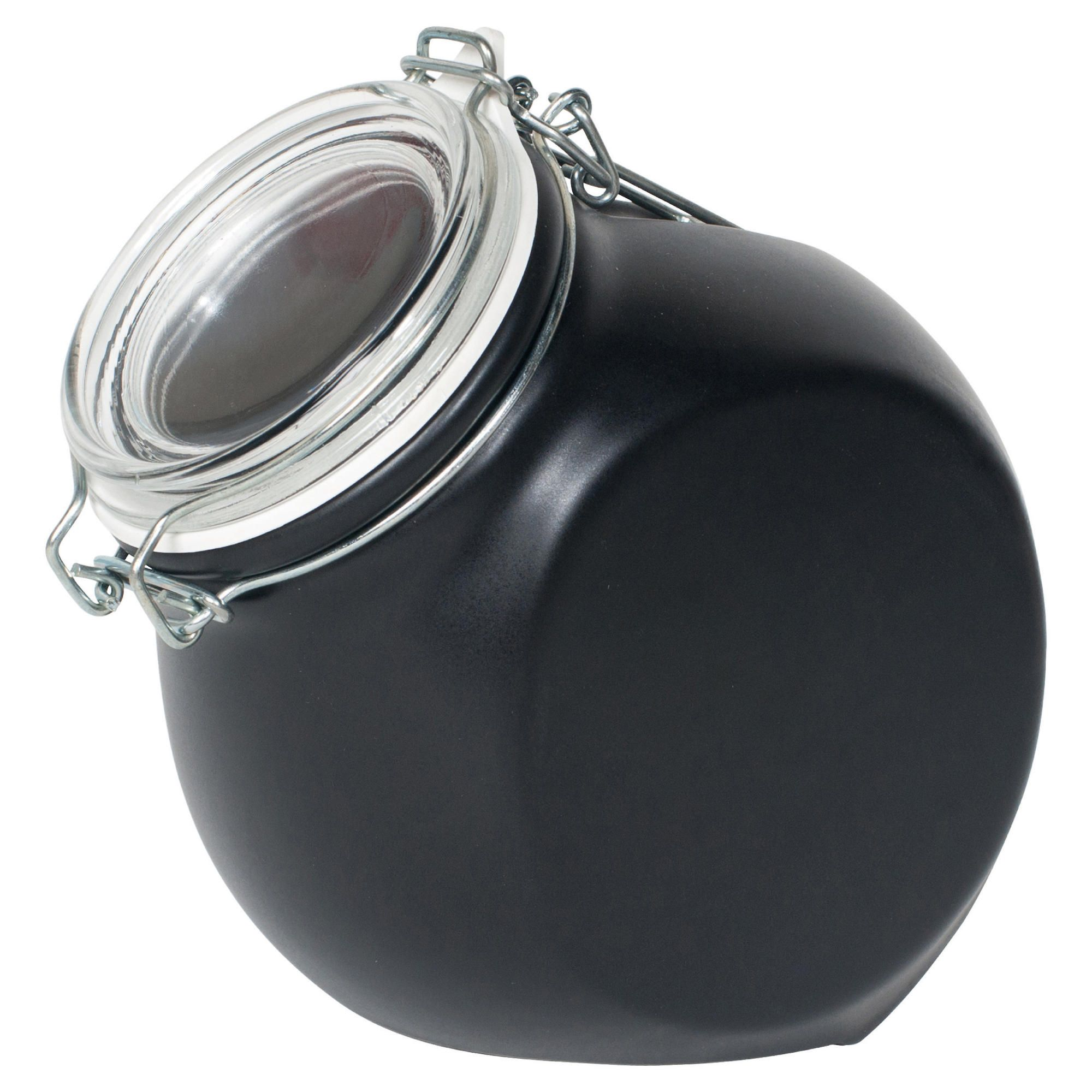 Nigella Lawson Living Kitchen 1.5L Storage Jar, Black