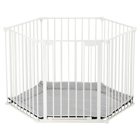 BabyDan Play Pen with Play Mat, White