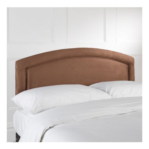 Seetall Adel Headboard Chocolate Faux Suede Single