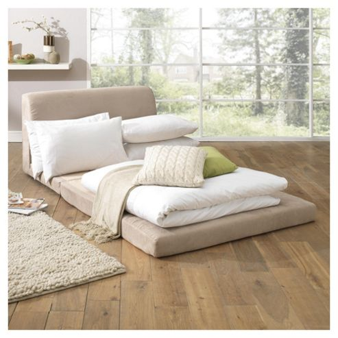 Mitchell Foam Fold Out Sofa Bed Natural
