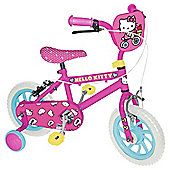 "Hello Kitty Kids 12"" Kids' Bike - Girls with stabilisers"