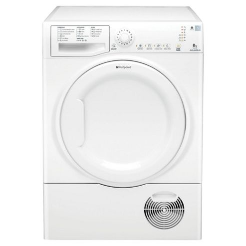 Hotpoint TCAL83CP Condenser Tumble Dryer, 8kg Load, C Energy Rating. White