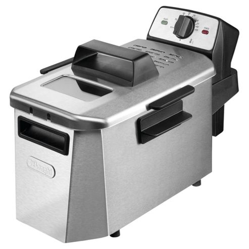 De'Longhi Coolzone Stainless Steel Fryer Black/Grey