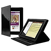 Cygnett Glam Black Glossy Finish Folio Stand Case for Apple iPad 2