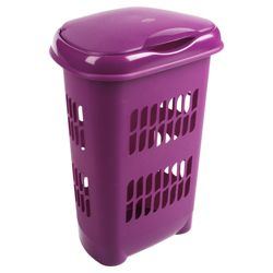 Laundry hamper, plum
