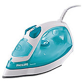Philips GC2910/02 vertical steam feature Iron with Ceramic Plate - White/Blue