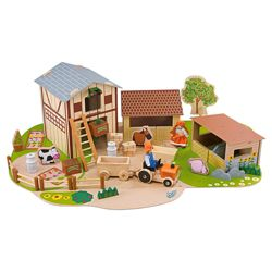 Carousel  Farm Set Wooden Toy