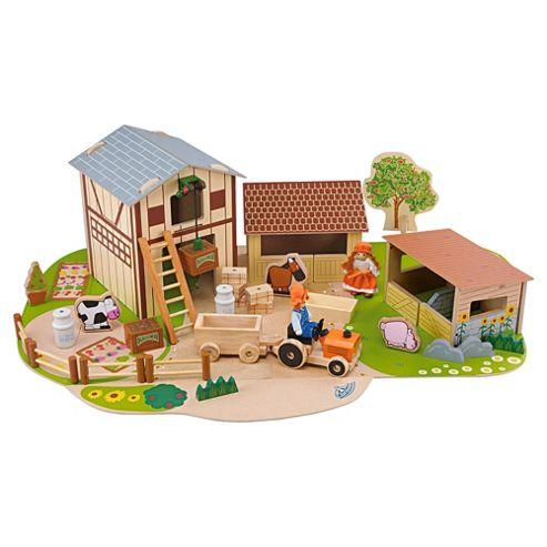 Carousel Farm Set Wooden Toy