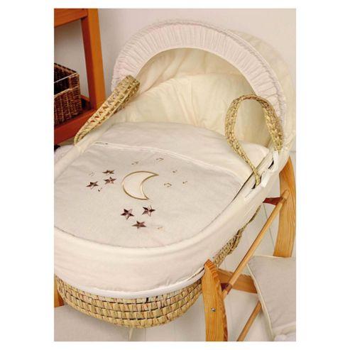 Clair de lune Rock-a-Bye Baby Moses Basket