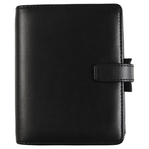 Filofax Pocket Identity Organiser, Leather Effect, Black