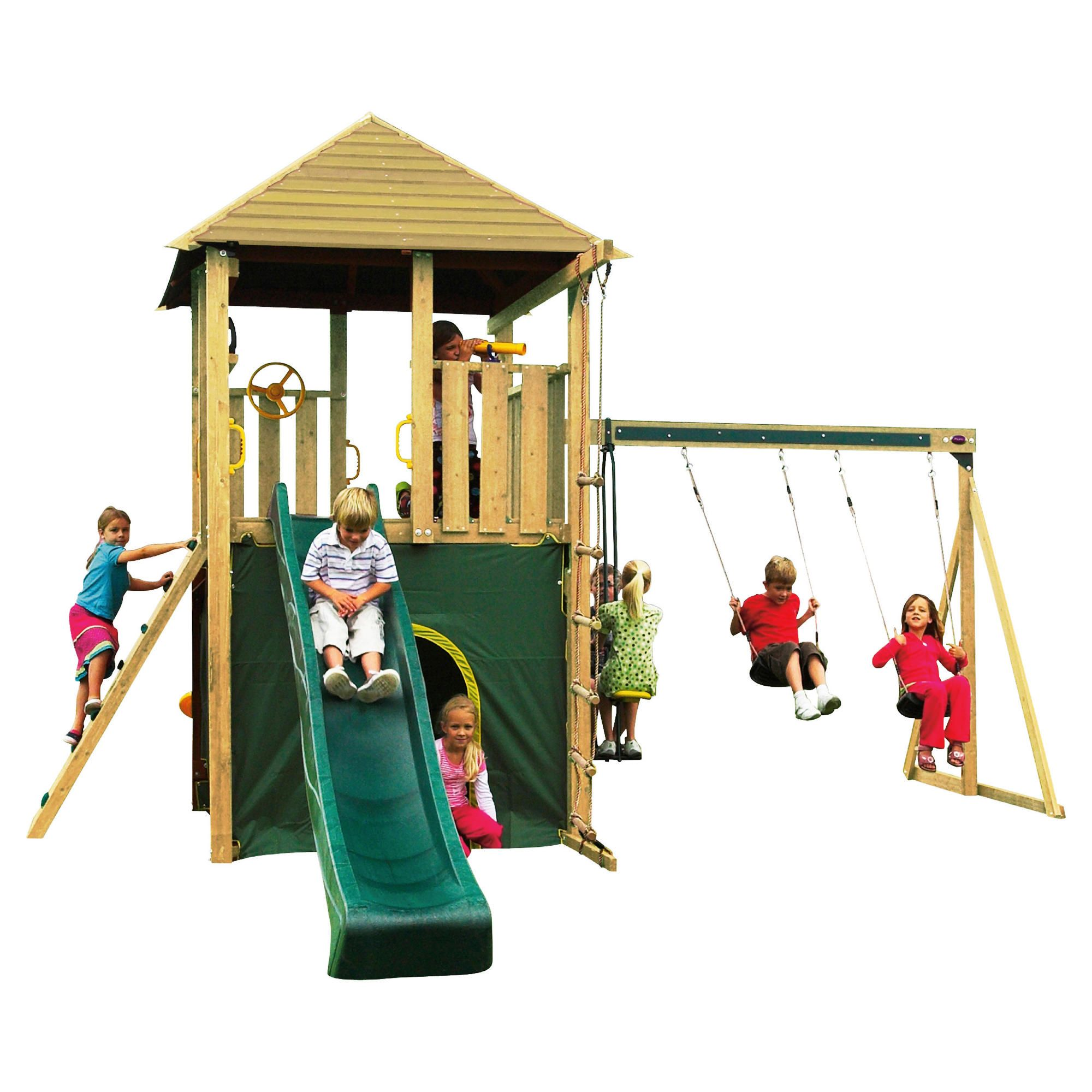 Plum Warthog Wooden Climbing Frame at Tescos Direct