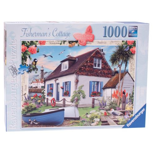 Country Cottage Collection, The Fishermans Cottage 1000 Piece Jigsaw Puzzle