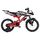 "Flight Moto-GP Kids 16"" Wheel Bike - Boys with stabilisers"