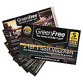 GreenFree 2-for-1 Golf, 5 Vouchers
