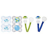 MAM Soother & Clip Set 0+ Months, Boys