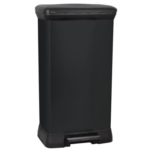 Curver Deco 50L Pedal Bin - Black