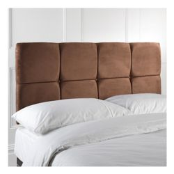 Nico Double Faux Suede Headboard, Chocolate