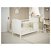 Obaby Grace Cot Bed Bundle, White & Cream