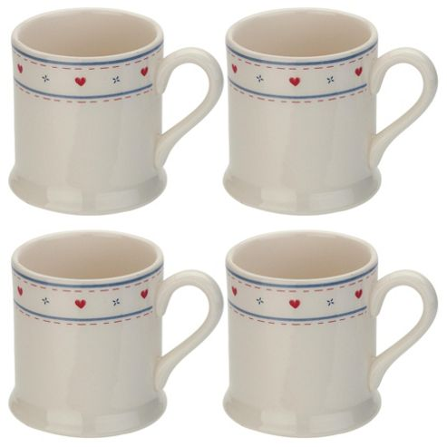 Tesco Haven Set of 4 Tankard Mugs