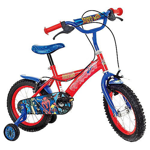 The Amazing Spider-Man Kids 14'' Wheel Bike - Boys with stabilisers