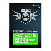 Call Of Duty Elite Xbox Live 4000 Microsoft Points