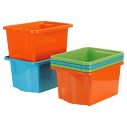 30L Stack and store, 6 pack orange, blue & green