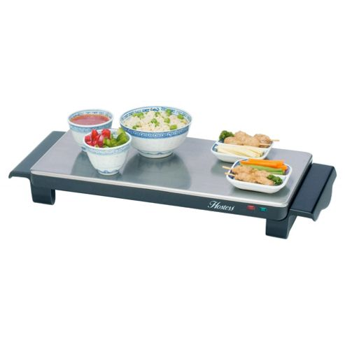 Hostess HT4020 2 Plate Brushed Steel Cordless Hot Trays Small