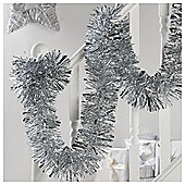 Tesco Large Box Of Christmas Tinsel, Silver