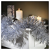 Festive Large Box Of Christmas Tinsel, Silver, 10m X 150mm
