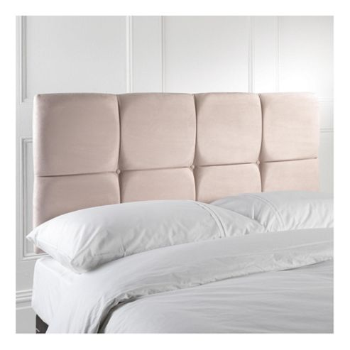 Seetall Nico Headboard Cream Faux Suede Double