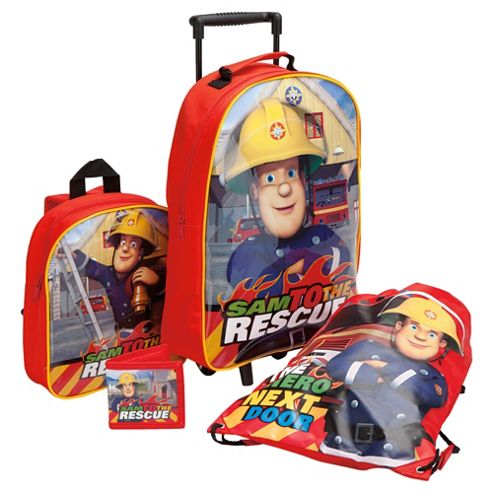 Fireman Sam 4-Piece Kids' Luggage Set