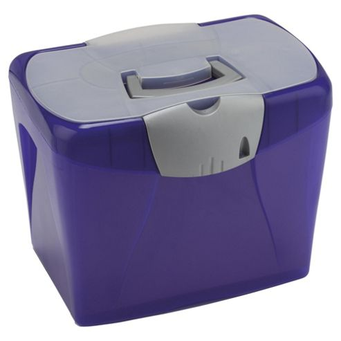 Pierre Henry A4 Horizon Plastic Box File, Purple