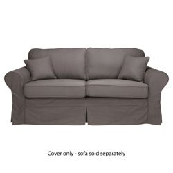 Louisa Loose Cover For Sofa Bed, Charcoal