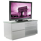 UK-CF Paris WHT/WHT Fully Assembled TV Stand