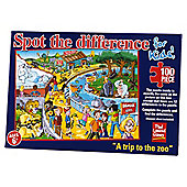 Spot The Difference for kids The Zoo 100 piece puzzle