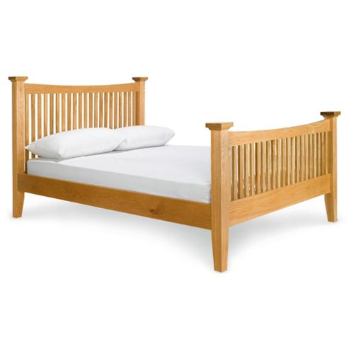 Hampstead Double Bed Frame, Solid Oak