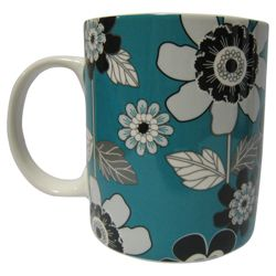 Tesco Modern Flower Set of 4, Teal.