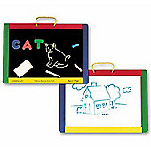 Melissa & Doug Wooden Magnetic Chalkboard/Dry-Erase Board