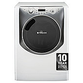 Hotpoint Aqualtis AQ113F497E Washing Machine, 11Kg Wash Load, 1400 RPM Spin, A++ Energy Rating, White Titanium