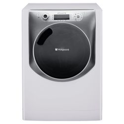 Hotpoint Aqualtis AQ113D697E Washing Machine, 11kg Wash Load, 1600 RPM Spin, A+++ Energy Rating. White Titanium