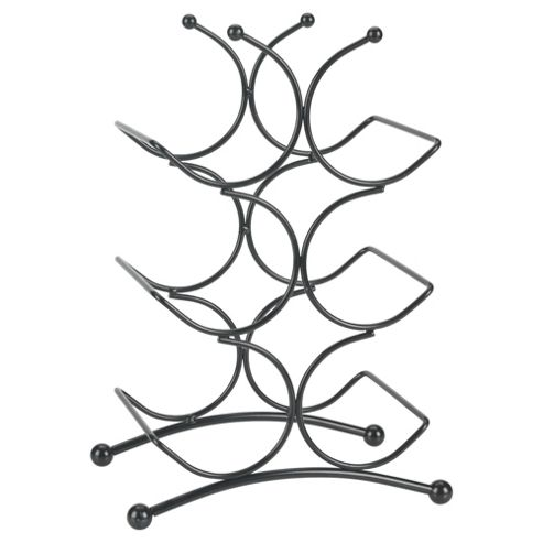 Circolare 6 Bottle Wine rack, Black