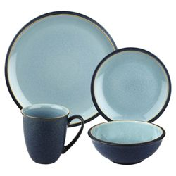 Denby 16 piece Blue Jetty Boxed Dinner Set.
