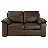 Ashmore Small Leather Sofa, Brown